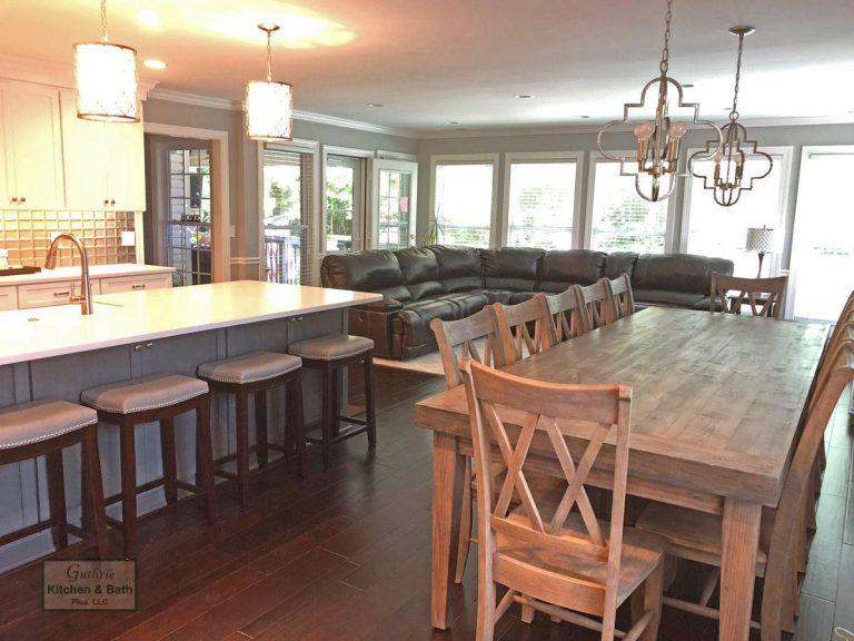 Open Plan Kitchen Design With Island