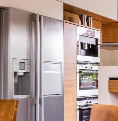 Guthrie Kitchen And Bath Kitchen With Silver Refrigerator
