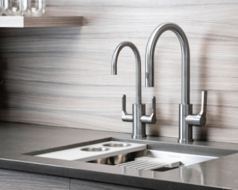 Guthrie Kitchen And Bath Silver Sink And Faucet