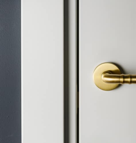 Guthrie Kitchen And Bath White Door Gold Handle