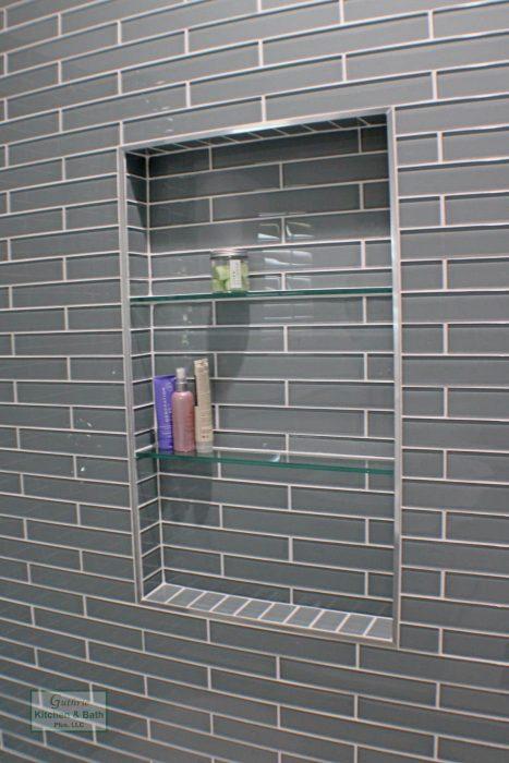 Guthrie Kitchen And Bath Bellenger Bath Design Springfield, Tn 8 Blue Master Bathroom With Niche