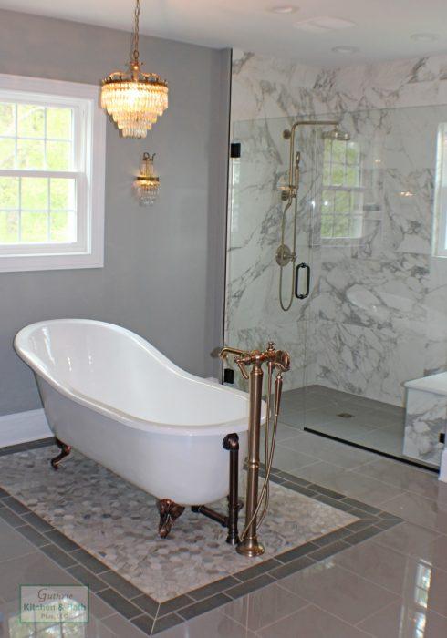 Freestanding Bathtub And Large Shower