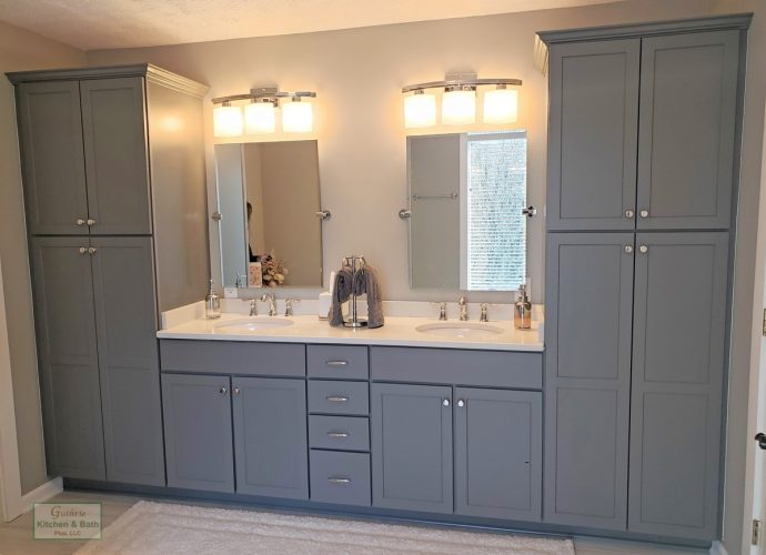 Gray Vanity Cabinet
