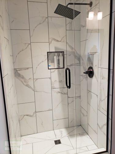 Shower Design With Rainfall Showerhead